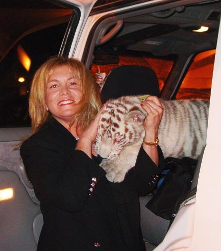Susan Tabas Tepper With White Tiger Cub Dora The Explorer